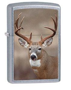 Classic Street Chrome Deer Zippo Lighter