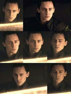 Loki ~ At Odin's Side <<--Tom has such a talented face. He successfully expresses his character's attempt at emotionless expressionless-ness while still being expressive.