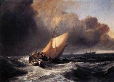 Dutch Boats in a Gale, 1801, William Turner