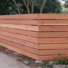 Captivating Horizontal Wood Fence Design 15 Must See Wood Fences Pins Backyard Fences Fence Ideas An Modern Wood Fence, Wood Fence Design, Wooden Fences, Redwood Fence, Cedar Fence, Wood Privacy Fence, Fence Panels, Patio Privacy, Fence Landscaping