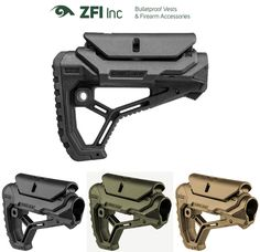 Integrated cheek weld in an overall compact and sleek design. Aimpoint, Vortex and more. Inversed positioning lever will not open accidentally. Two integrated quick detach rear sling swivel connectors. Airsoft Helmet, Airsoft Guns, Weapons Guns, Ar Pistol Build, Ar Build, Rifle Accessories, Ar Rifle, Tac Gear, Ares