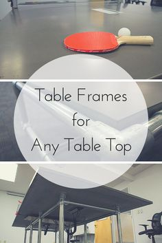 Table Frames for Any Table Top  #tableframe #concretetable