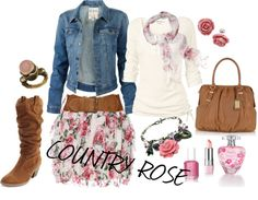 """Country Rose"" by seaclass on Polyvore"