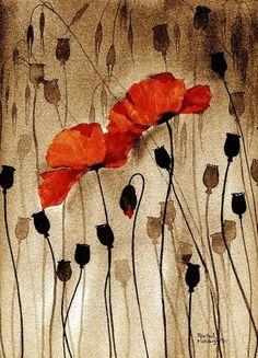 Poppy on Sepia Rachel McNaughton