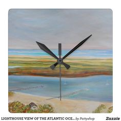 LIGHTHOUSE VIEW OF THE ATLANTIC OCEAN Wall Clock