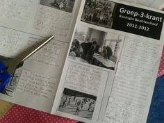 klassen krant voor het eind van het jaar. met teksten door de kinderen geschreven.
