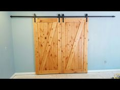 How To Build A Board and Batten Door - YouTube & http://rusticahardware.com/bypass-barn-door-hardware-system ...