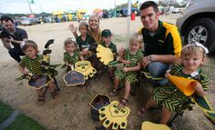 """The Jones family, stars of TLC's """"Quints by Surprise,"""" at a Baylor football tailgate in 2011"""