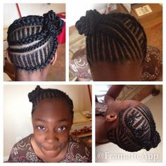 Cornrow Updo With Extensions Find