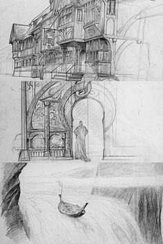 Concept Art for Lord of the Rings by John Howe