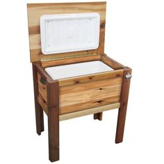 #RuralKingContest #lodgecamping Gronomics Western Red Cedar Cooler Chest w/ Cover CC 24-32C by Gronomics  for $449.97 in Patio - Outdoor Living : Rural King