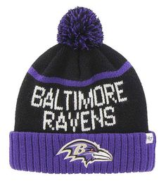 Baltimore Ravens Linesman Cuff Knit Black 47 Brand Hat - Great Prices And  Fast Shipping at Detroit Game Gear 7724075e6