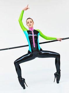 265 Shiny colourful latex ballerina (Ballet Heels® by Alexandra Potter) Ballet Boots, Ballet Heels, Alexandra Potter, Fetish Fashion, Catsuit, Ballerina, Latex, Fashion Models, Leather Pants