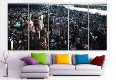 XLARGE 30x 70 5 Panels Art Canvas Print New York City by BoxColors, $139.00