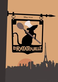 Ratatouille (2007) ~ Minimal Movie Poster by Joris Laquittant #amusementphile