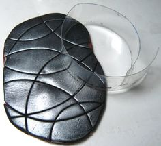 Interesting way to do Mokume Gane - another use for recycled plastic. ~ Polymer Clay Tutorials