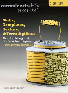 In this installment of the Ceramic Arts Daily Presents Video Series, Jeremy Randall presents the handbuilding and decorating processes he uses to create his vibrant architecturally-inspired vessels. Jeremy uses textures and asymmetry to reference aging industrial and agricultural structures. He explains his tar paper template system-including a bonus feature on using tar paper templates to sketch in three dimensions-which allows a bit of control in form, but also leaves room for alteration.
