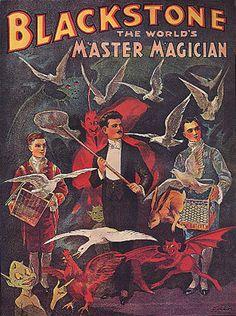 MAGIC BLACKSTONE MAGICIAN RED DEVIL DUCK REPRO POSTER | eBay