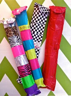 Make Music Rock! More recorder ideas. Recorder cases covered in duct tape make them cute and durable.