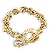 Coach Classic op art toggle bracelet $128