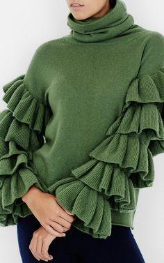 Ruffle Sleeve Turtleneck by Tuinch | Moda Operandi