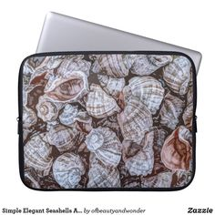 Choose from a variety of Elegant laptop sleeves or make your own! Shop now for custom laptop sleeves & more! Custom Laptop, Best Laptops, Personalized Products, Seashells, Laptop Sleeves, Elegant, Simple, Artwork, Gifts