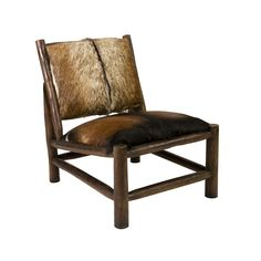 The Morricone Chair brings a look that is both bold and distinctive to any space. The frame has been constructed out of solid log beams for a strong sense of design. Authentic animal hide adds a luxuri...  Find the Morricone Accent Chair, as seen in the Our Favorite Industrial Designs Collection at http://dotandbo.com/collections/our-favorite-industrial-designs?utm_source=pinterest&utm_medium=organic&db_sku=IMX0224