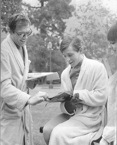 Adam West and Burt Ward (Batman 1966-68).