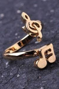 Image of Can you feel the music ring Music Rings, Music Jewelry, Cute Jewelry, Gold Jewelry, Jewelry Accessories, Jewellery, Father Of The Bride Outfit, Shoe Nails, Fitness Gifts