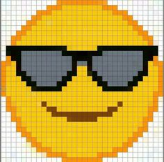 Emoji Patterns, Peyote Patterns, Loom Patterns, Cross Stitch Patterns, Pixel Pattern, Pattern Art, Cross Stitching, Cross Stitch Embroidery, Perler Bead Emoji