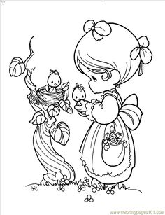 Digital Coloring Pages | http://www.coloringpages101.com/coloring_pages/precious_moments ...