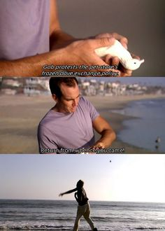 Gob protests the store's frozen dove policy. Arrested Development Quotes, Fantastic Show, Will Arnett, Lights Camera Action, Comedy Tv, In God We Trust, Sword Of Destiny, Music Tv, Movies Showing
