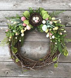 Items similar to Reindeer wreath/christmas wreath/christmas wreath for front door/burlap christmas door wreath/rustic christmas wreath/rudolph wreath/xmas on Etsy Berry Wreath, Grapevine Wreath, Easter Wreaths, Holiday Wreaths, Wreaths For Front Door, Door Wreaths, Easter Table Decorations, Easter Decor, Easter Ideas