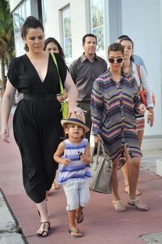 Kourtney Kardashian and Scott Disick took Mason out to run errands in Miami, FL on Wednesday (September 19).