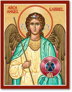 These Catholic Icons portray St. Gabriel whose feast day is September Monastery Icons, Saint Gabriel, Angels Among Us, Icon Collection, Religious Icons, Christian Art, Saints, Images, Amen