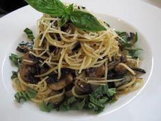 Spageti Jamur & Terung (Mushroom & Eggplant Spagetti)