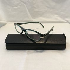 796a34ff1a24 Prada VPR13G-7OS1O1 Green Prescription Eyeglasses Frames 50-16-135 Italy  Unisex