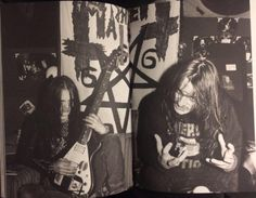 Euronymous and Necrobutcher in 1987