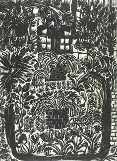 Matsubara Naoko: Conservatory I, woodcut