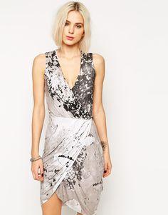 Image 1 ofReligion Abstract Print Wrap Dress