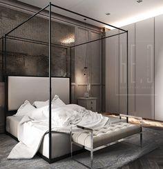 классическая спальня в нежных тонах