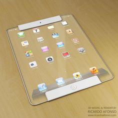 Modelo 3D de um iPad futurista | Pplware