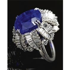 Sapphire and diamond ring, Vaillant and Duverne, New York, circa 1960