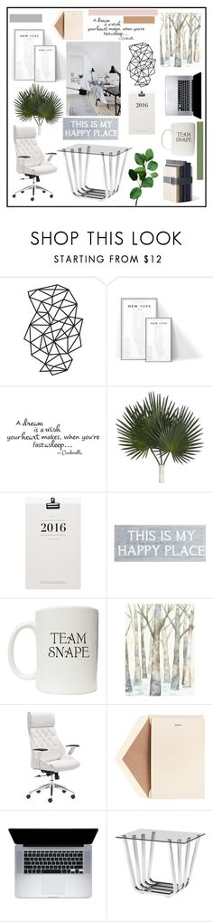 """""""Office Design #2"""" by misskarolina ❤ liked on Polyvore featuring interior, interiors, interior design, home, home decor, interior decorating, Pier 1 Imports, Dot & Bo, Dempsey & Carroll and Zuo"""