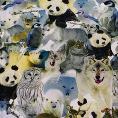 Stoffen - wilde winterdieren tricot - bambiblauw - heb ik al :-)