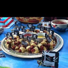 Finger food for pirate party - seadogs