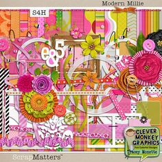 Modern Millie by Clever Monkey Graphics  #clevermonkeygraphics #traceymonette #scrapbook #layout #scrapbooking #digital #papercraft