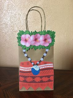 Moana Party Favors Goodie Bags Set Of 8 Moana Birthday Party, Moana Party, 6th Birthday Parties, Third Birthday, Birthday Ideas, Hawaian Party, Moana Theme, Luau Decorations, Party Favor Bags
