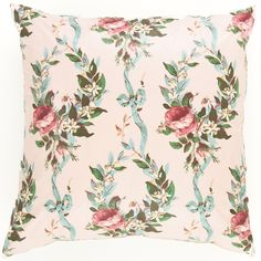 Crafted from an elegant vintage fabric from Annie's textile archive, this delicate decorative pillow is all Old World charm. Featherdown insert included.