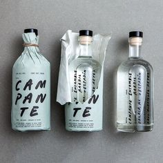 A heavy piece of design inspiration here, by packaging for their mezcal Food Packaging Design, Beverage Packaging, Bottle Packaging, Packaging Design Inspiration, Brand Packaging, Packaging Ideas, Coffee Packaging, Wine Design, Label Design
